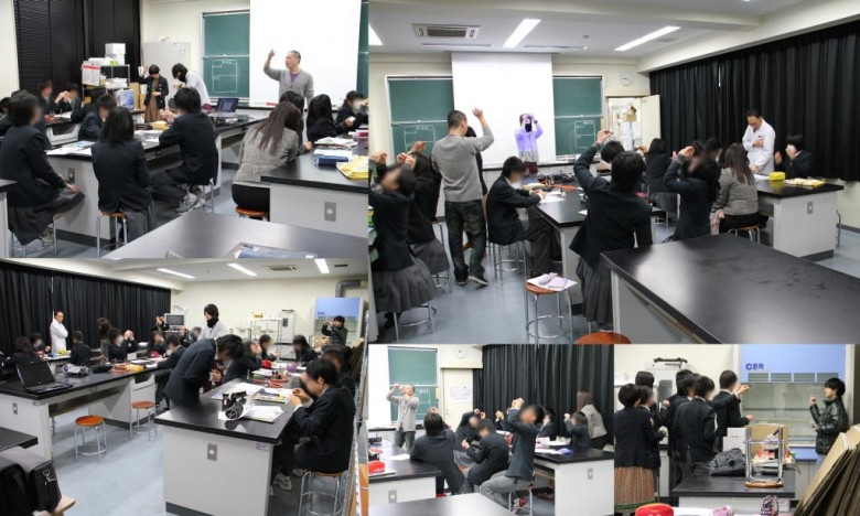 附属中学で教員希望の学生が理科実験にチャレンジ(2月)