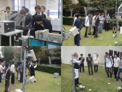 """岡山地方気象台見学""""HIDEO+""""でダウンバーストアラート(10月)"""