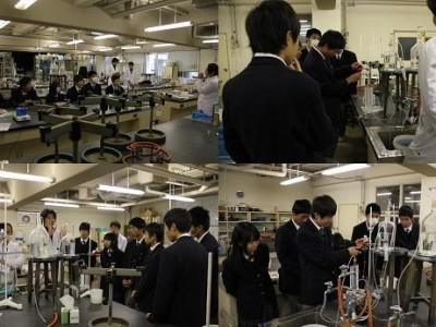 香川中央高校生の学内見学会(12月)