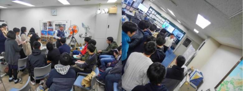 「講義:情報システム2」社会情報システムの見学その1~岡山地方気象台~(12月)