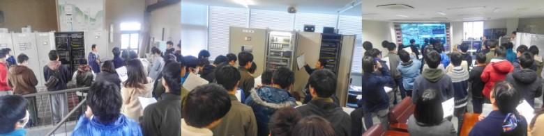 「講義:情報システム2」社会情報システムの見学その3~岡山市三野浄水場管理システム~(12月)