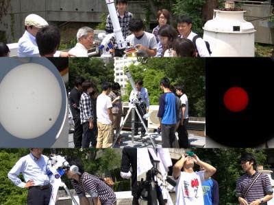 金星が講義「宇宙科学」中に日面通過(6月)
