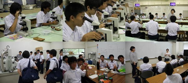玉野光南高校生の学内見学会(7月)