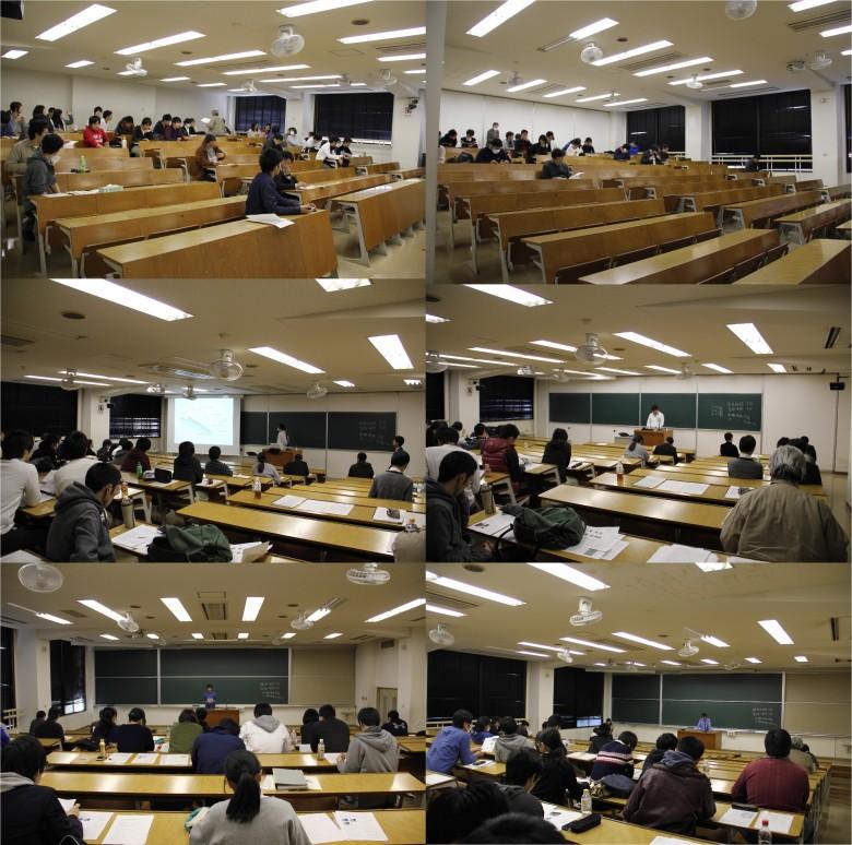 自然科学分野・卒業研究中間発表会(11月)