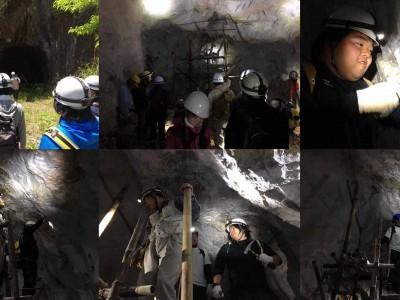 布賀地域で鉱物採取(5月)