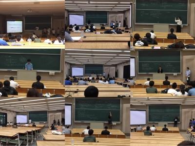 数学分野 卒業研究中間発表会(9月)