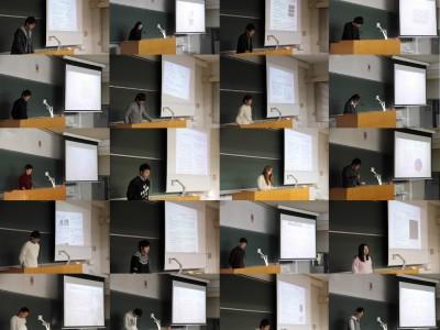 理科分野卒業研究中間発表(11月)