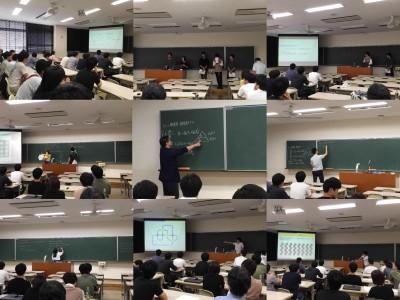 数学分野 卒業研究中間発表会