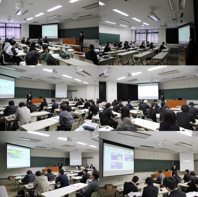 数学・情報分野と理科分野の卒業研究発表会開催