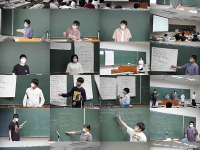 数学分野 卒業研究中間発表会開催