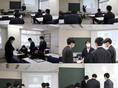 井原高校の生徒が見学に来ました