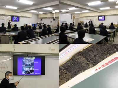 徳島科学技術高校の生徒が見学に来ました