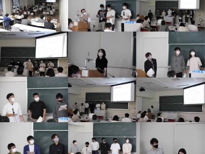 数学分野卒業研究中間発表会開催